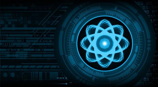 Shining atom scheme illustration