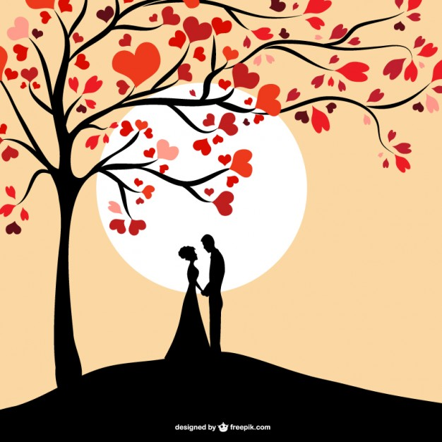 Sun couple silhouette design  Vector | Free Download