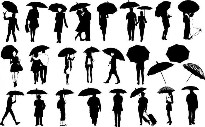 Umbrella silhouette Vector