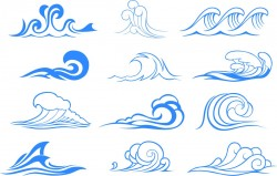 Wave graphic symbols Vector