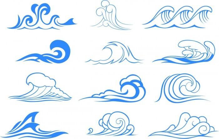 Wave graphic symbols Vector