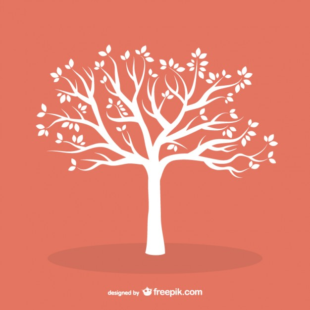 White tree with leaves  Vector | Free Download