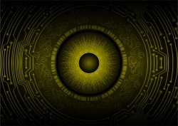 Yellow eye background