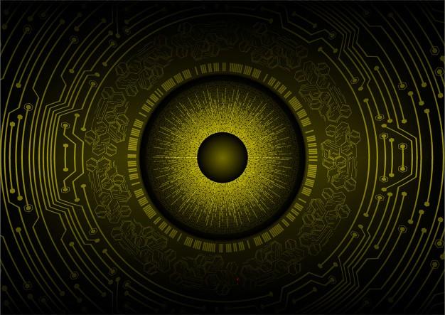 Yellow eye background