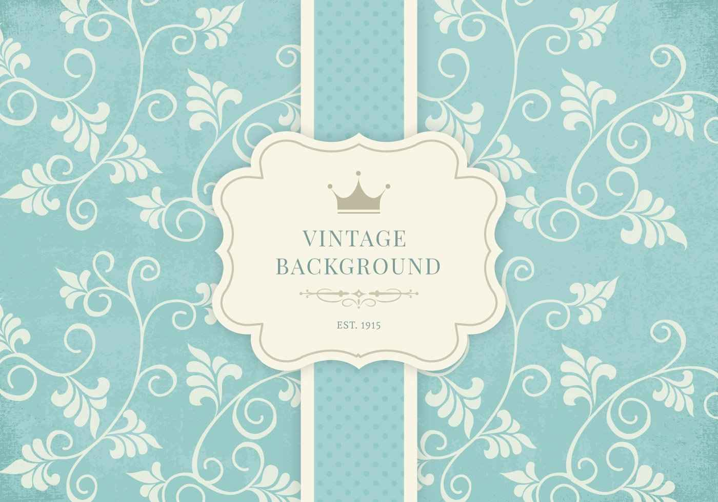 Vintage Floral Background Vector Free Graphic Design Elements