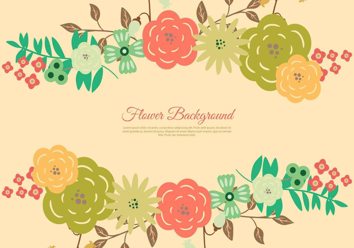 Beautiful Floral Wreath Background Free Graphic Design Elements